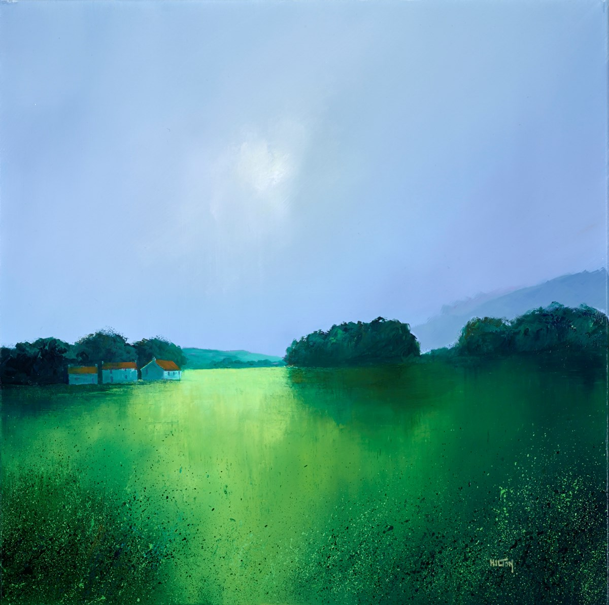 Splendid Greens by barry hilton -  sized 28x28 inches. Available from Whitewall Galleries